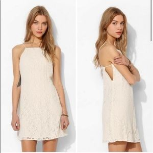 UO   pins & needles cream lace cut out dress L
